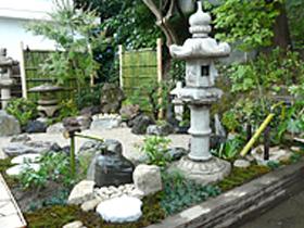 完成した日本庭園です!
